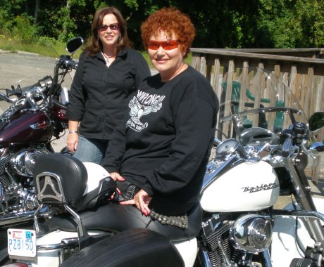 Lady Bikers Carol and Phyllis